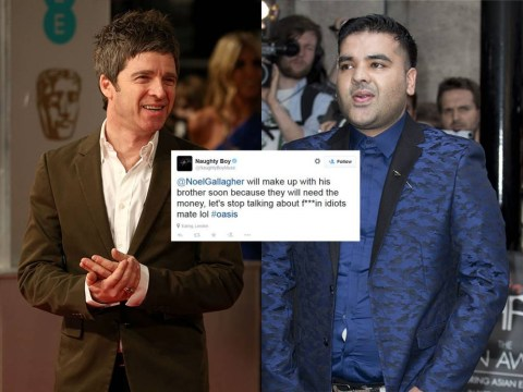 Naughty Boy hits back at Noel Gallagher for calling Zayn Malik a 'f***in' idiot'