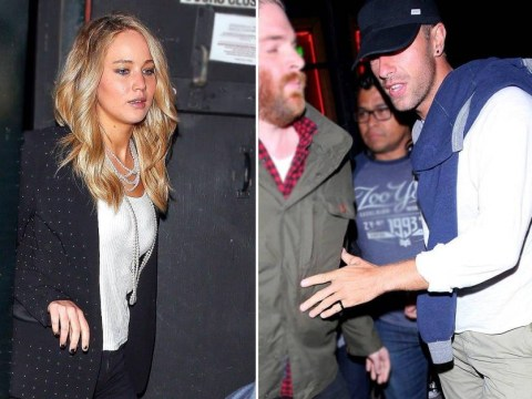 Sneaky Jennifer Lawrence and Chris Martin try and fail to go incognito as they spend evening together