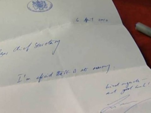 Former Labour minister 'burns with shame' over infamous note