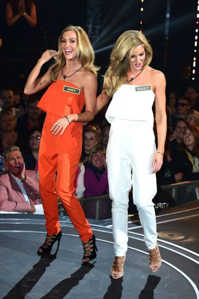 Amy and Sally Broadbent arriving to enter the house during the launch of the latest series of the Channel 5 programme Big Brother at Elstree Studios, Borehamwood. PRESS ASSOCIATION Photo. Picture date: Tuesday May 12, 2015. Photo credit should read: Ian West/PA Wire