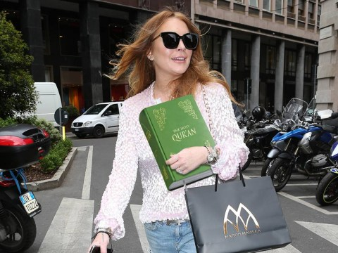Lindsay Lohan is considering converting to Islam – but she hasn't finished reading the Koran yet