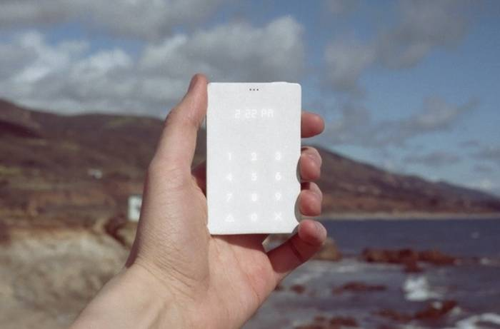 This tasteful credit card-sized mobile phone is just for phone calls and we want one