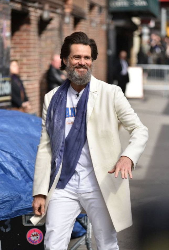 Mandatory Credit: Photo by Erik Pendzich/REX Shutterstock (4782307az)  Jim Carrey  The Late Show with David Letterman', New York, America - 20 May 2015