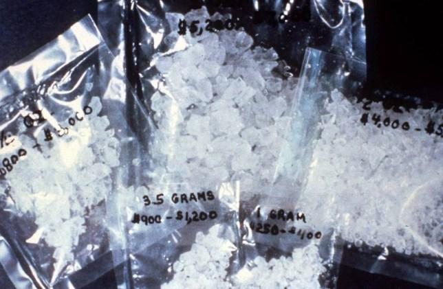 Mandatory Credit: Photo by KIP RANO/REX_Shutterstock (164641c).. METHAMPHETAMINE.. DRUG CRYSTAL METH - 1989.. ..