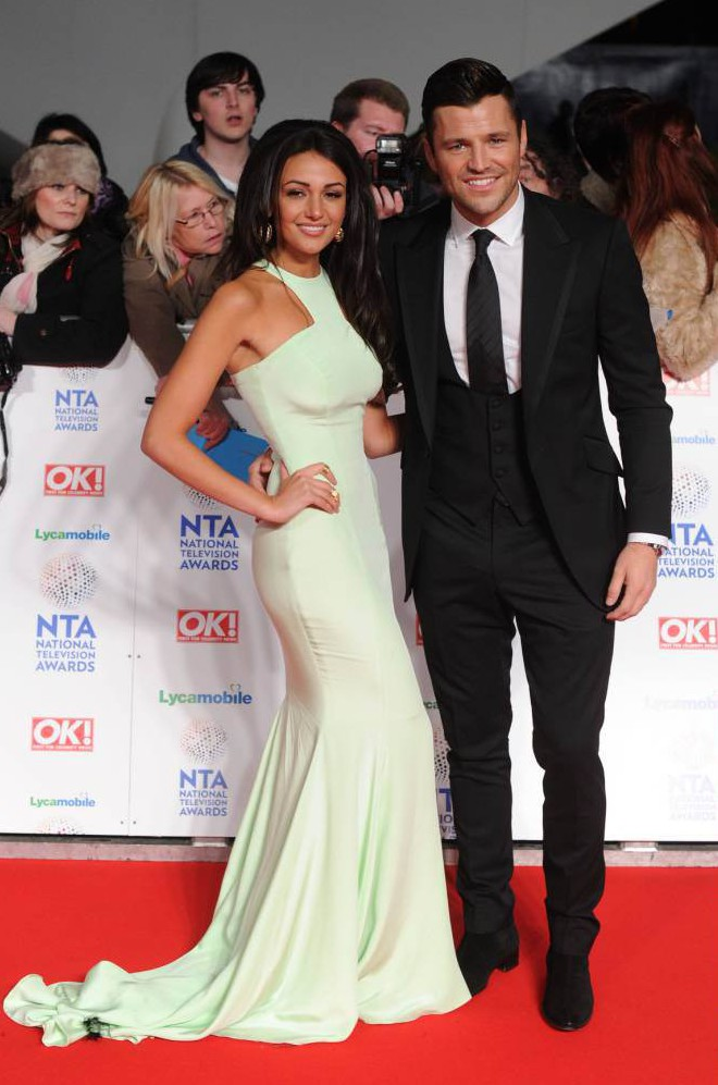 Mandatory Credit: Photo by David Fisher/REX_Shutterstock (3525294if).. Michelle Keegan and Mark Wright.. National Television Awards, The O2, London, Britain - 22 Jan 2014.. ..