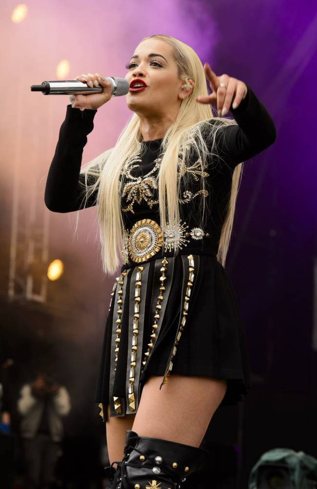 Mandatory Credit: Photo by Jonathan Hordle/REX Shutterstock (4786708ak)  Rita Ora performs at the Radio 1 Big Weekend in Norwich on Sunday.  BBC Radio 1 Big Weekend, Norwich, Britain - 24 May 2015