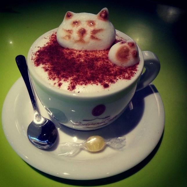 My Latte Art - NiKa Please link to http://www.boredpanda.com/my-latte-art/