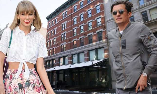 Mandatory Credit: Photo by Action Press/REX_Shutterstock (4501448be)nOrlando Bloom and Taylor Swift are neighbors at this apartment building in Manahttan, New YorknNew York apartments, America - Feb 2015nn
