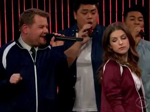 Check out this epic sing-off between James Corden and Anna Kendrick