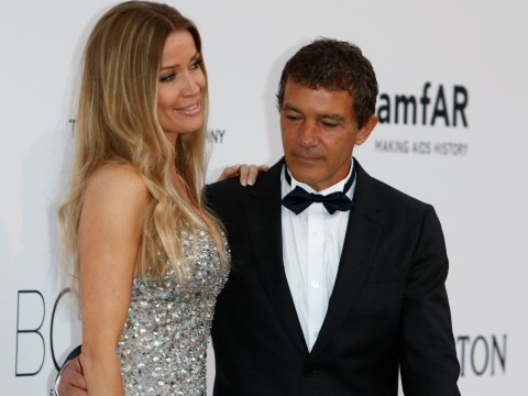 Antonio Banderas caught short copping a peek at swanky Cannes charity gala