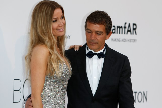 Antonio Banderas and Nicole Kempel attend amfAR's 22nd Cinema Against Aids gala during the 68th Annual Cannes Filmfest at Hotel du Cap-Eden-Roc in Cap d'Antibes, France. (Photo: Hubert Boesl/dpa)