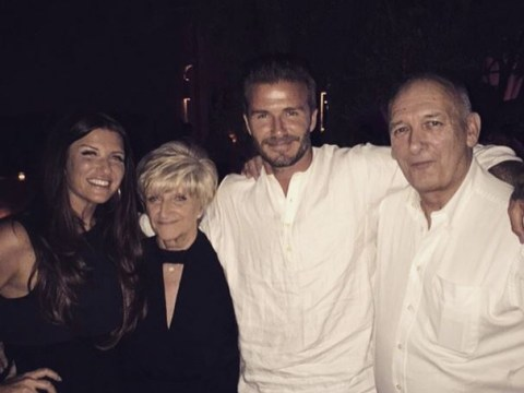 David Beckham thanks his mum, dad and sister in sweet family snap during 40th celebration
