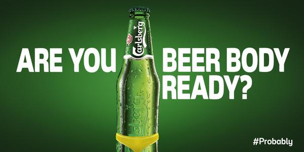 Carlsberg pokes fun at Protein World's controversial beach body ads by asking 'are you beer body ready?'