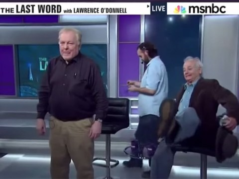 Bill Murray got drunk and fell off a chair on live TV. There are no words…