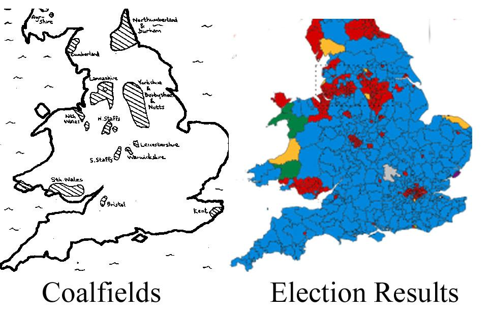 Map shows why the North still hasn't forgiven the Tories