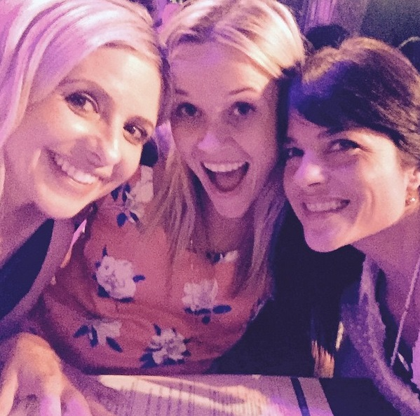 Reese Witherspoon reunites with Cruel Intentions co-stars Sarah Michelle Gellar and Selma Blair for 'best girls night of the year'