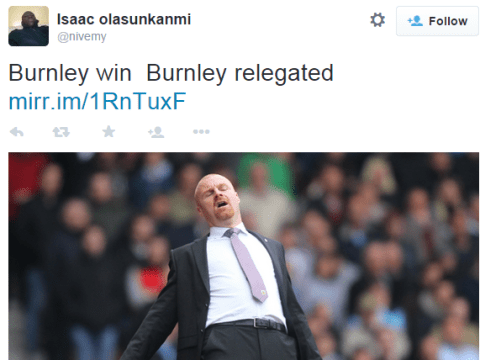 Twitter reacts as Burnley are relegated from the Premier League