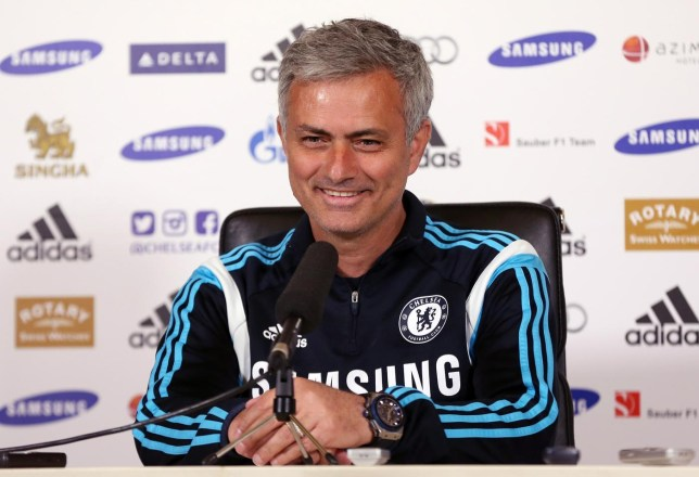 Football: Chelsea manager Jose Mourinho during the press conference Matthew Childs/Reuters