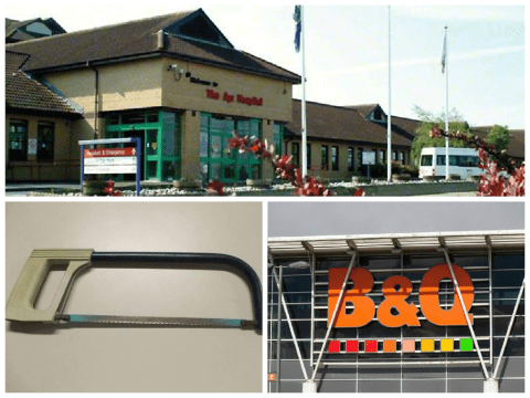 NHS surgeon 'used rusty saw' to amputate leg because B&Q was shut