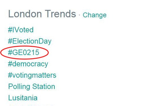 #GE0215: Guys, we messed up the General Election Twitter hashtag because we were sleepy