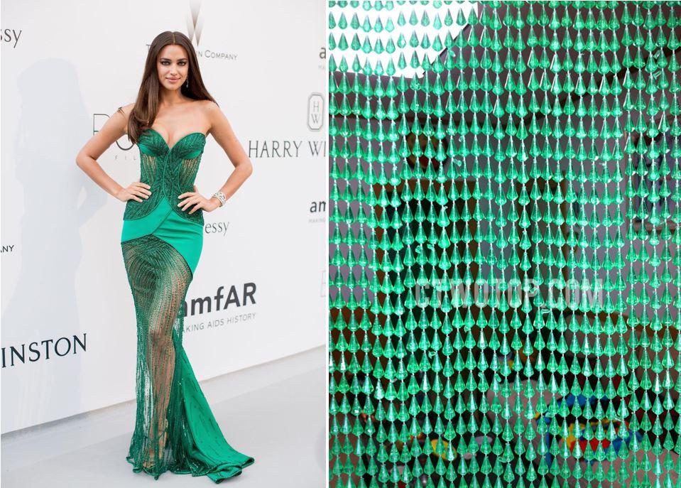 We don't know what to make of Irina Shayk's sheer AmfAR Gala dress