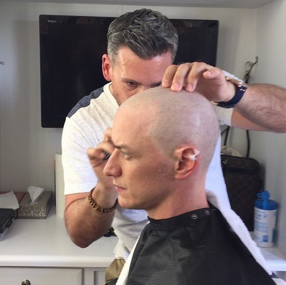 Hair today, gone tomorrow: James McAvoy has shaved his head for X-Men: Apocalypse