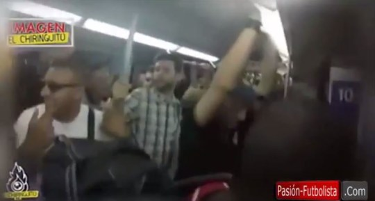 Juventus fans pack a Madrid train