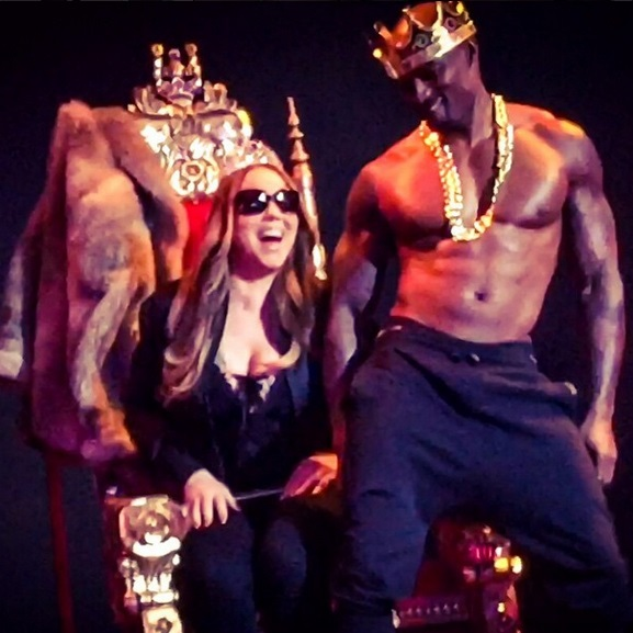 Self-confessed prude Mariah Carey gets a steamy lapdance from Tyson Beckford