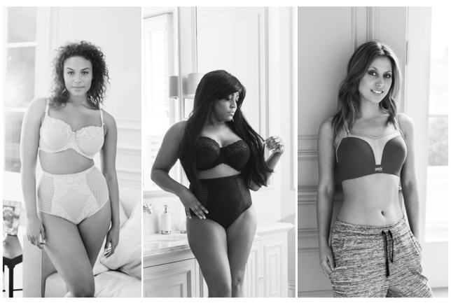 Marquita Pring, Mica Paris and Amy Hughes  in Panache underwear