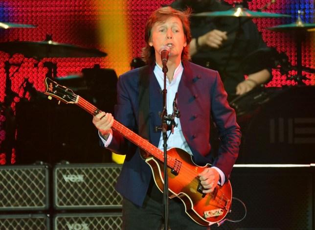 Paul McCartney on guitar