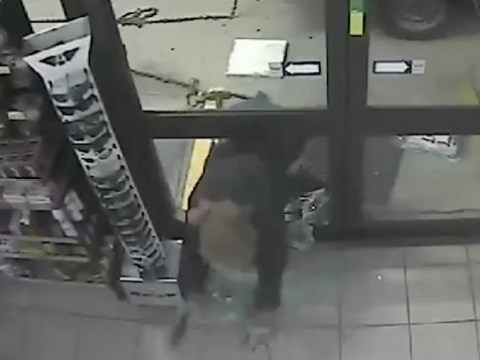 Police release CCTV footage of failed ATM raid with a comedy soundtrack