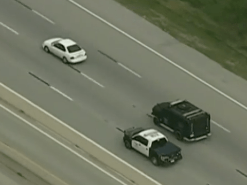 Is this the slowest police chase ever?