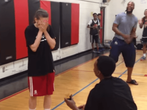 This basketball proposal is everything