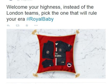Paris Saint-Germain cheekily urge royal baby to snub London sides and support club that 'will rule your era'