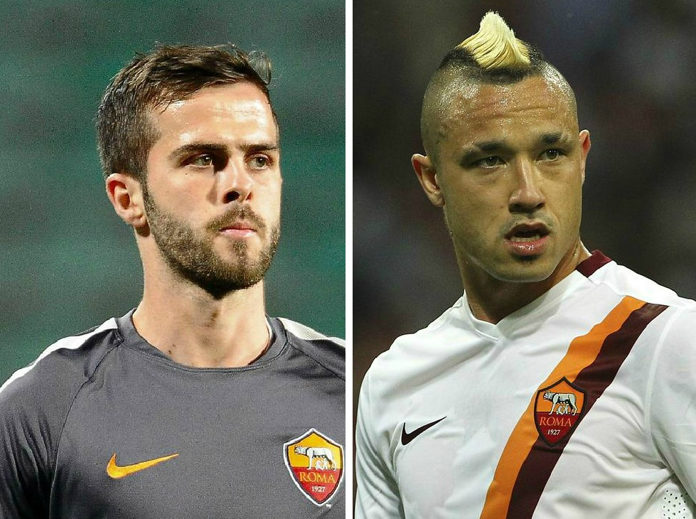 Manchester United 'prepare £50.7million double transfer swoop for Roma's Radja Nainggolan and Miralem Pjanic'