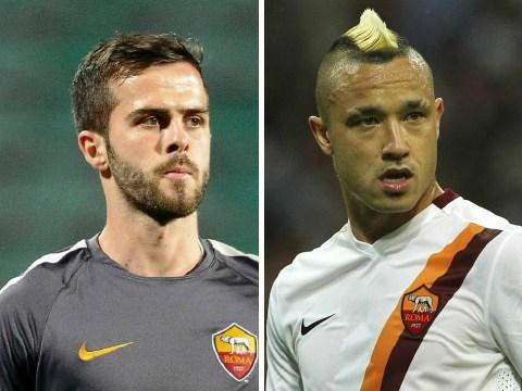 Manchester United 'prepare £50.7million double transfer swoop for Roma's Radja Nainggolan and Miralem Pjanic'