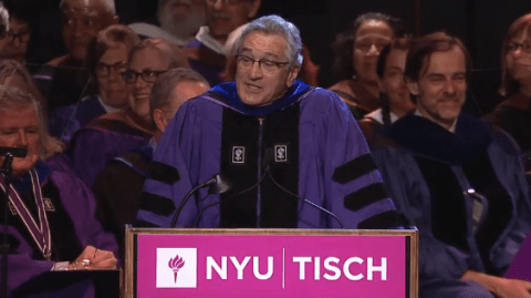 Robert de Niro tells university graduates that they're 'f**ked' in the most amazing speech you'll see all day