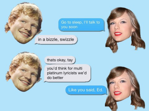 Taylor Swift and Ed Sheeran texting each other is the cutest