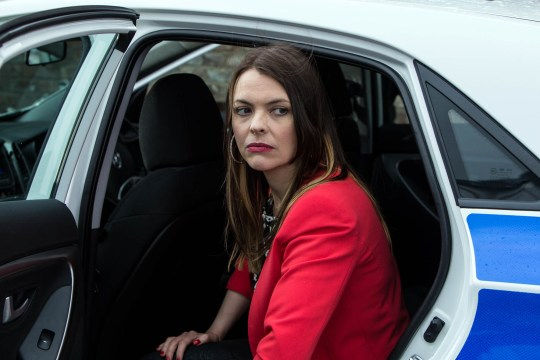 FROM ITV STRICT EMBARGO -TV Listings Magazines & websites Tuesday 23 June 2015, Newspapers Saturday 27 June 2015  Coronation Street - Ep 8674 Friday 3 July 2015 - 1st Ep Liz has plans for Tony. Calling in Barlow's Buys she suggests to Tracy that together they can knock Tony off his pedestal by reporting him to the police for handling stolen goods. But Tracy Barlow [KATE FORD] refuses to listen and Liz realises she's as guilty as Tony. However when Liz and Michelle discover a batch of stolen goods is due to be delivered today, she's more determined than ever to get her own back. As Tracy unloads his stolen goods, the police arrive. Will Liz's revenge end in Tracy's arrest? Picture contact: david.crook@itv.com on 0161 952 6214 Photographer - Mark Bruce This photograph is (C) ITV Plc and can only be reproduced for editorial purposes directly in connection with the programme or event mentioned above, or ITV plc. Once made available by ITV plc Picture Desk, this photograph can be reproduced once only up until the transmission [TX] date and no reproduction fee will be charged. Any subsequent usage may incur a fee. This photograph must not be manipulated [excluding basic cropping] in a manner which alters the visual appearance of the person photographed deemed detrimental or inappropriate by ITV plc Picture Desk. This photograph must not be syndicated to any other company, publication or website, or permanently archived, without the express written permission of ITV Plc Picture Desk. Full Terms and conditions are available on the website www.itvpictures.com