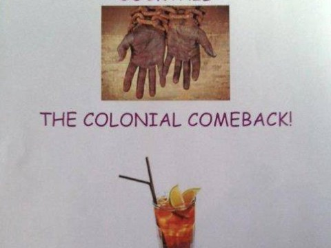 Oxford Union admits 'we're racist' over colonial comeback cocktail