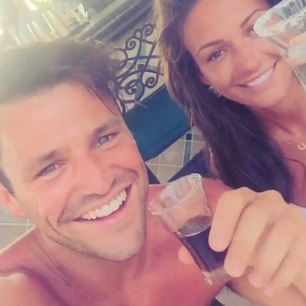 Mark Wright and Michelle Keegan down shots in the cringiest Instgram video EVER