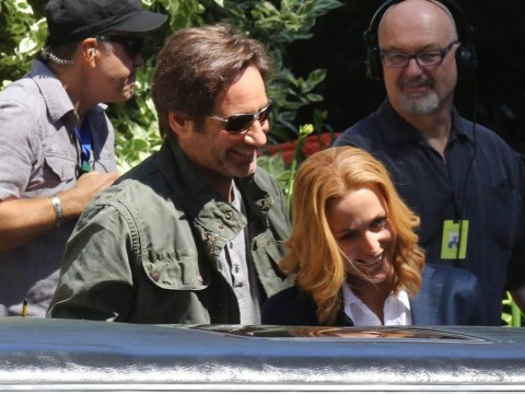 X-Files fans get first glimpse of Mulder and Scully together on the set of new series
