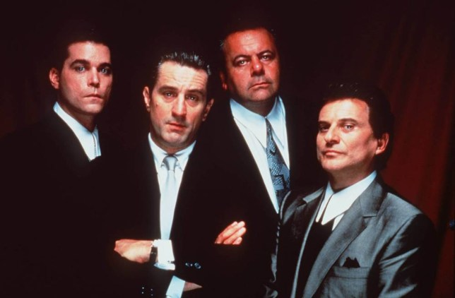FILM: GOODFELLAS (1990) TX: WEDNESDAY 9TH JUNE - 10PM Violent gangster epic that chronicles the life of a mafia 'wiseguy' from teenage errand boy to fully-fledged mobster. From L to R: Ray Liotta, Robert De Niro, Paul Sorvino, Joe Pesci. Copyright CHANNEL 5 BROADCASTING. Free for editorial press and listings use in connection with the current broadcast of Channel 5 programmes only. C5 Stills: 0171 550 5583. This Image may only be reproduced with the prior written consent of Channel 5. Not for any form of advertising, internet use or in connection with the sale of any product.