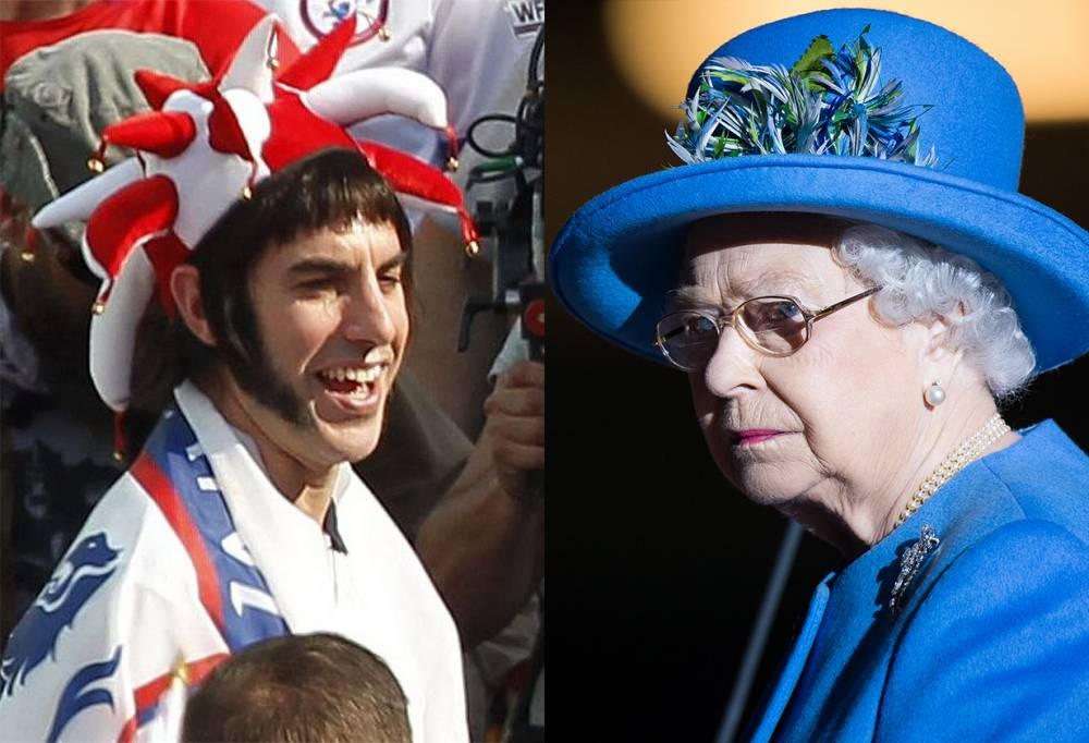 OMG – Sacha Baron Cohen is filming scenes of the Queen catching HIV for his new film Grimsby