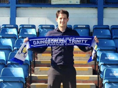 Gainsborough Trinity unveil new star signing, spell their own name wrong on scarf