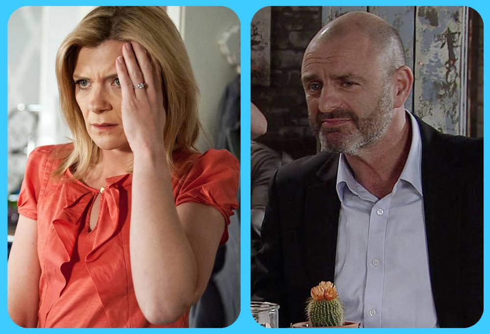 FROM ITV STRICT EMBARGO -TV Listings Magazines & websites Tuesday 2 June 2015, Newspapers Saturday 6 June 2015  Coronation Street - Ep 8658 Wednesday 10 June 2015  Liz McDonald [BEVERLEY CALLARD] meets Erica [CLAIRE KING] for lunch at the Bistro and is flattered by the attentions of two brewery employees. Nick Tilsley [BEN PRICE]  is jealous as Erica flirts with Paddy, while Liz and Dan [ADNREW PAUL] get on famously.  Picture contact: david.crook@itv.com on 0161 952 6214 This photograph is (C) ITV Plc and can only be reproduced for editorial purposes directly in connection with the programme or event mentioned above, or ITV plc. Once made available by ITV plc Picture Desk, this photograph can be reproduced once only up until the transmission [TX] date and no reproduction fee will be charged. Any subsequent usage may incur a fee. This photograph must not be manipulated [excluding basic cropping] in a manner which alters the visual appearance of the person photographed deemed detrimental or inappropriate by ITV plc Picture Desk. This photograph must not be syndicated to any other company, publication or website, or permanently archived, without the express written permission of ITV Plc Picture Desk. Full Terms and conditions are available on the website www.itvpictures.com