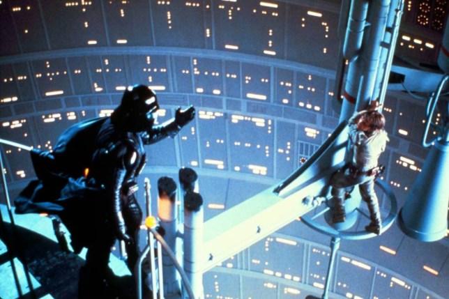 Film, 'Star Wars: Episode V - The Empire Strikes Back', (1980) Luke Skywalker and Darth Vader. A14W9K