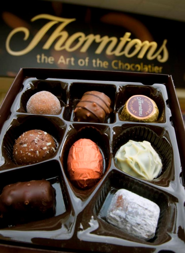 Illustrative image of Thorntons chocolate products.
