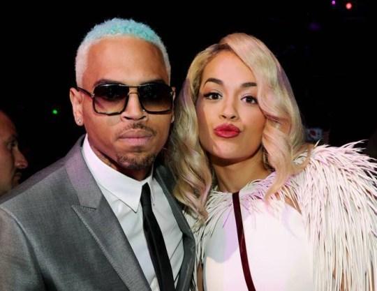 Chris Brown and Rita Ora.. 2012 MTV Video Music Awards Show, Los Angeles, America - 06 Sep 2012.. ..