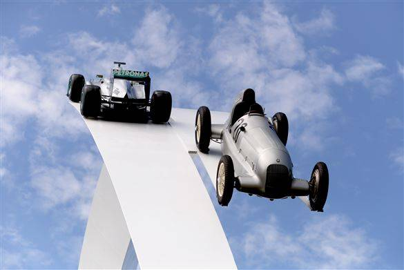 Sculptor Gerry Judah persuades motor companies to let him cut up their cars for Goodwood Festival of Speed 2015